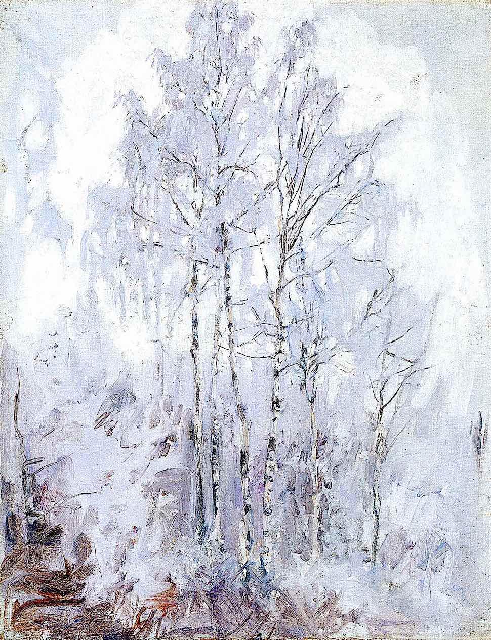 Akseli Gallen-Kallela 1894 trees in winter snow