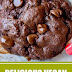 Delicious Vegan Double Chocolate Cookies #vegan #cookies