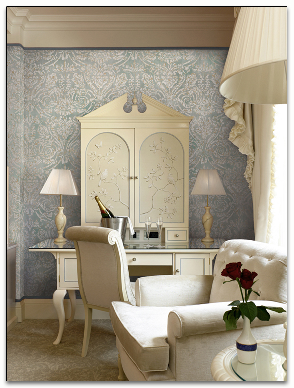 Damask Living Room Decor: Chinoiserie Chic: Grand Damask At Paul Montgomery Studio