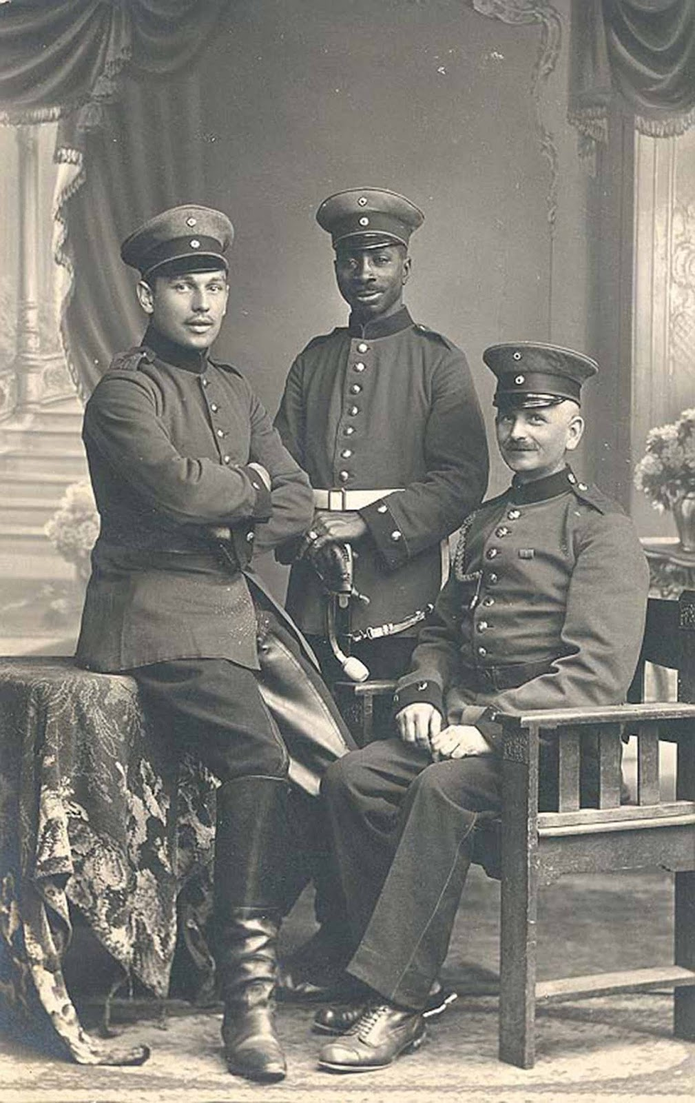 Josef Mambo, born in German East Africa in 1885, moved to Germany in 1897 and twice wounded in East Prussia and Verdun, 1915.
