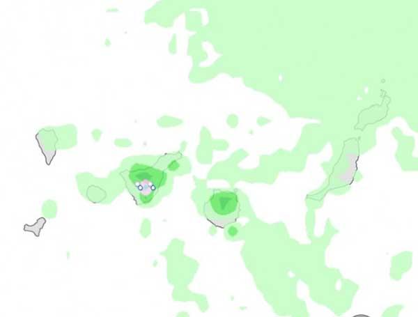 Fuertes lluvias y nieve en Canarias mañana miércoles