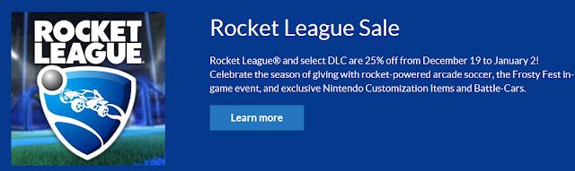 Rocket League Nintendo Switch eShop sale 25% off