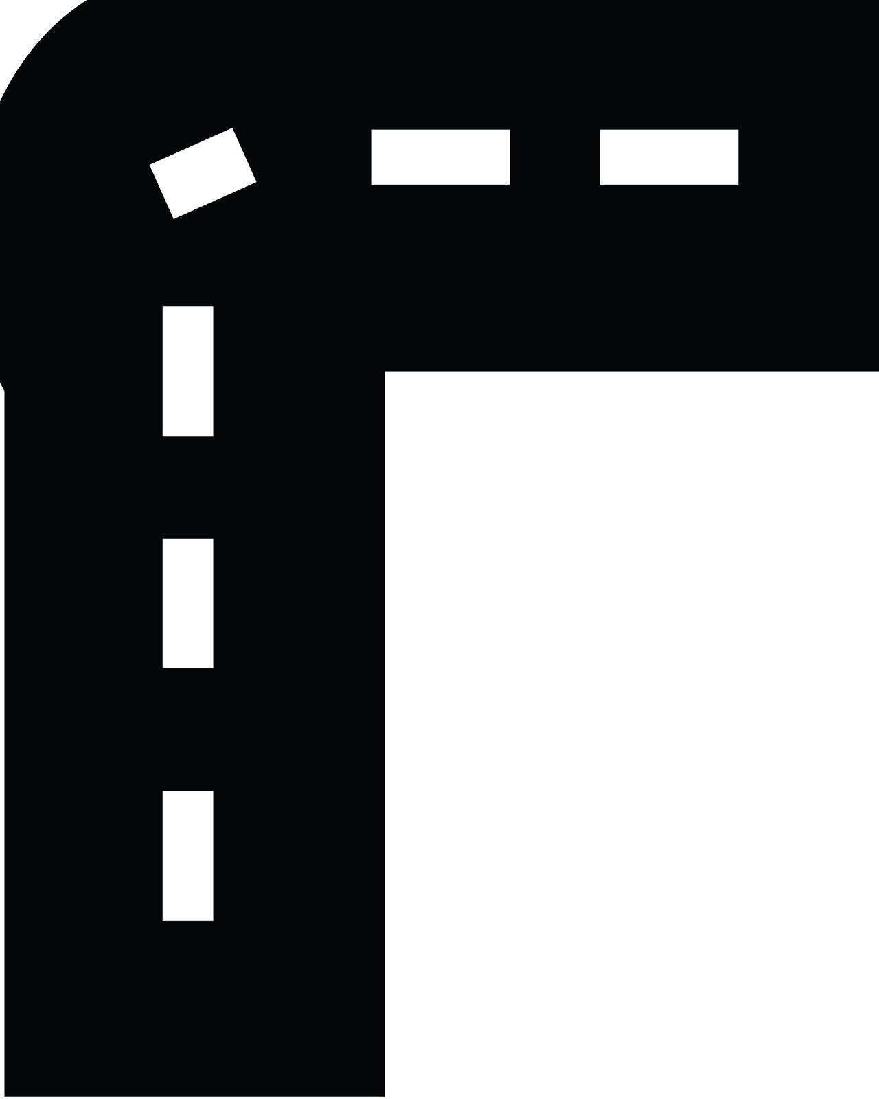 Straight Road Cartoon Horizontal