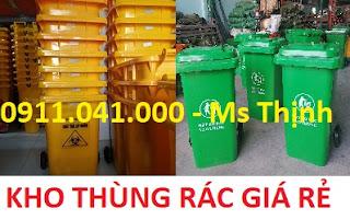 HCM - Thùng rác 120l 240l nhựa tốt giá rẻ tại quận 4, quận 12 lh 0911.041.000 152