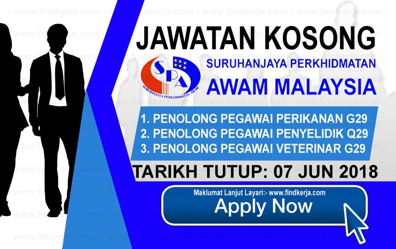 Jawatan Kerja Kosong SPA - Suruhanjaya Perkhidmatan Awam logo www.findkerja.com jun 2018