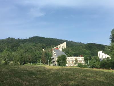 Hotel Diament w Ustroniu, śląskie, widok od centrum