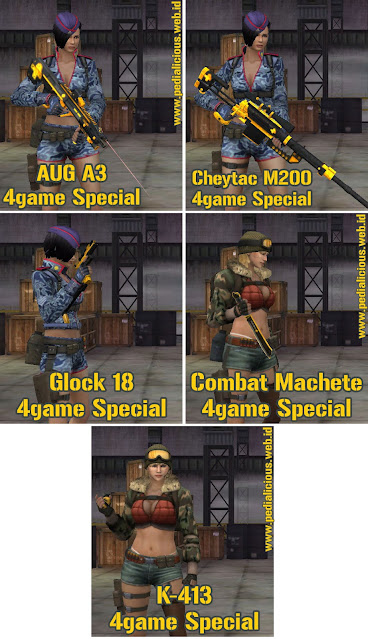 Preview Senjata Seri 4game Special Point Blank Zepetto Indonesia