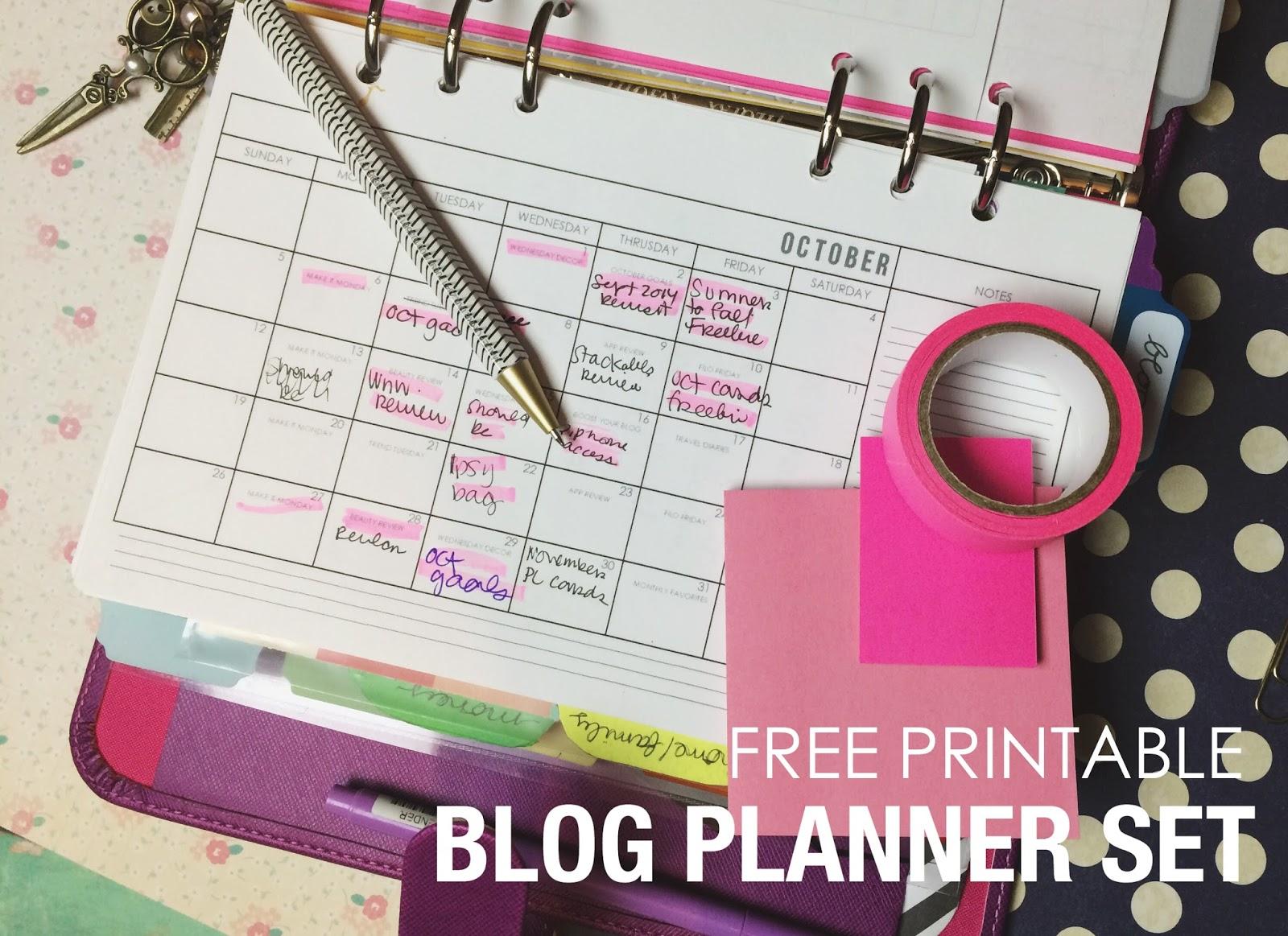 Five Sixteenths Blog Planner Printable Free Blog Planner