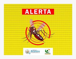 Já são 39 casos de Dengue confirmados no município de Registro-SP, sendo: