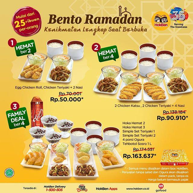 #Hokben - #Promo Paket Bento Ramadhan Hanya 25K Per Orang