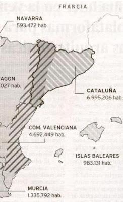 Le Monde sostiene que el idioma valenciano se habla en Lleida, Andorra y parte de Aragón.