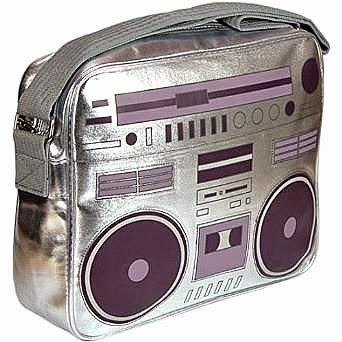 Silver Ghettoblaster Shoulder Bag