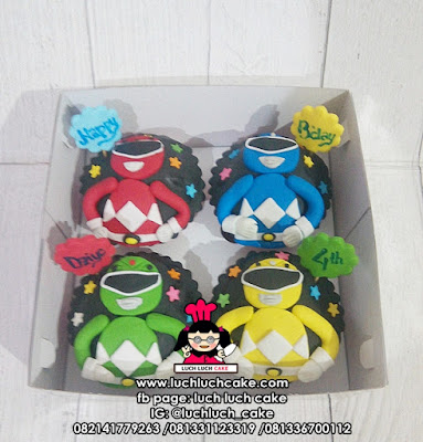 Cupcake Fondant 2d Tema Power Rangers