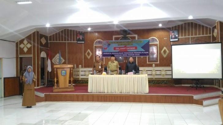 Bupati Kerinci Adirozal Buka Sosialisasi Pedoman Penggunaan Keuangan Desa