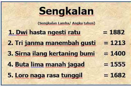 Sengkalan Bahasa Jawa dan Artinya