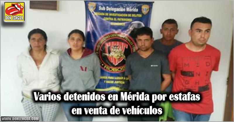 Varios detenidos en Mérida por estafas en venta de vehículos