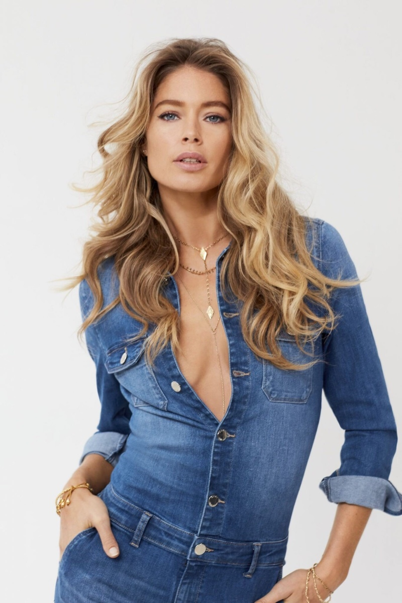 Wearing denim on denim, Doutzen Kroes fronts Only spring-summer 2020 campaign