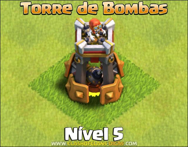 Nova Defesa: Torre de Bombas Nível 5