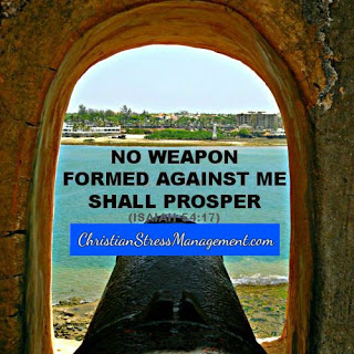 No weapon formed against me shall prosper.(Adapted Isaiah 54:17)