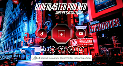 Download Kinemaster Pro Mod Red Cyber 2021