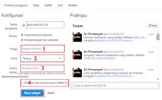 Cara menambahkan widget media sosial twitter di blog