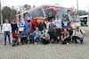 Empresa brasileña de buses abrió su instalaciones para visita de busólogos