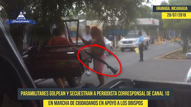 Paramilitares Golpean y Secuestran a Periodista en Granada