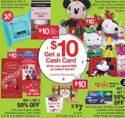 Products inclueded in this weeks Cash Card Promotion: