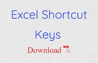 Excel Shortcut Keys pdf download