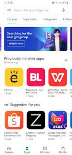 Cara Mudah Mengaktifkan Dark Mode Google Play Store