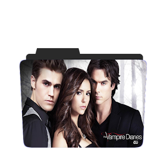 Preview of the Vampire diaries, tv show, official, poster, folder icon