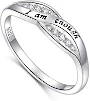 i am enough ring