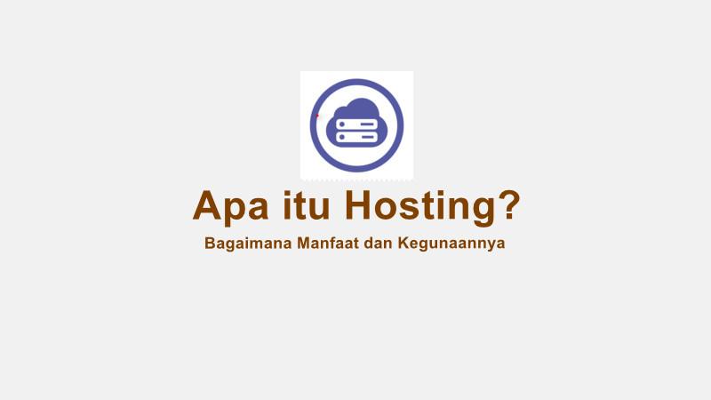 apa itu hosting?