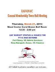uaf meeting hall town staff invitation