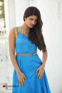 Telugu Actress Akshita (Pallavi Naidu) Latest Stills in Blue Long Dress at Inkenti Nuvve Cheppu Movie Promotions  0051.jpg