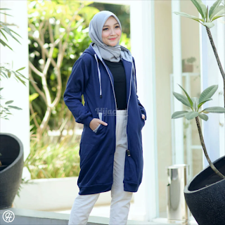 Hijacket Basic Navy x GREY HJ-1