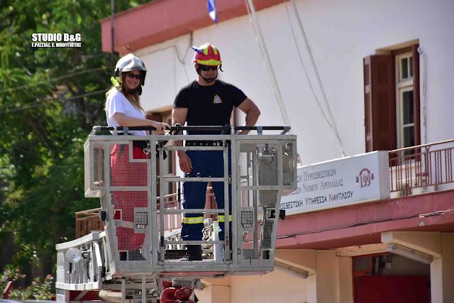 Εκπαίδευση εθελοντών του Ερυθρού Σταυρού από την Πυροσβεστική Ναυπλίου στην δασοπυρόσβεση (βίντεο)