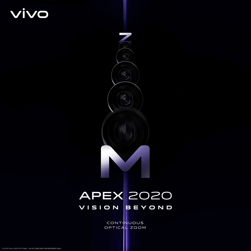 Vivo APEX 2020 with Continuous Optical Zoom to be announced on February 28