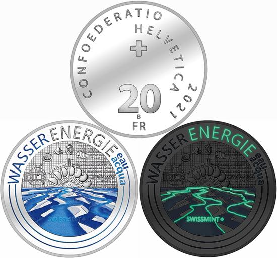 Switzerland 20 francs 2021 - Hydropower