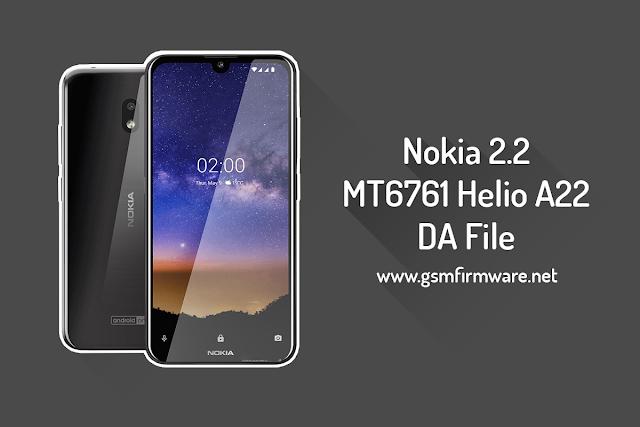 Nokia 2.2 MTK DA File MT6761 Helio A22 [Download-Agent]