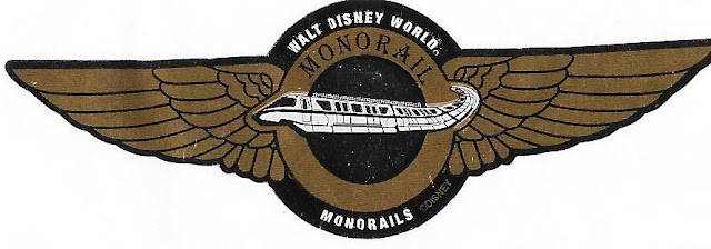 Walt Disney World Monorail Wings Pilot Sticker