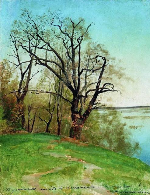 Исаак Ильич Левитан - Дуб на берегу реки. 1887
