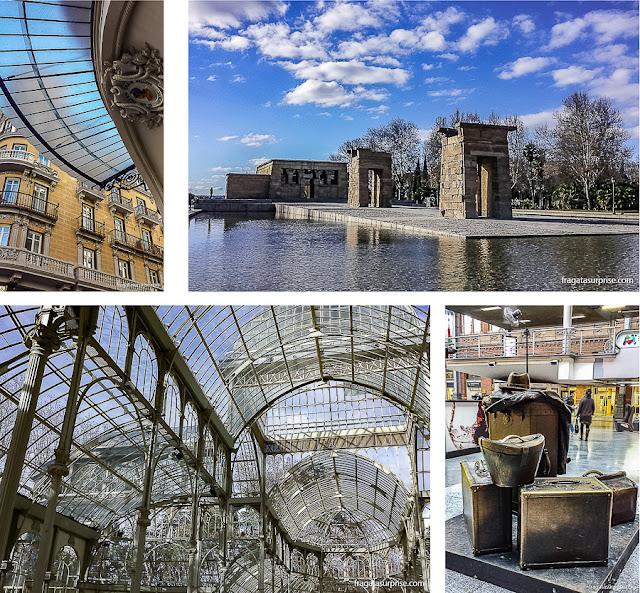 Madri: Palácio de Cristal, Templo de Debod,