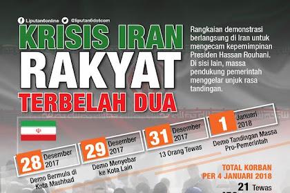 Terjadi Krisis Iran, Dukungan Rakyat Terbelah Dua