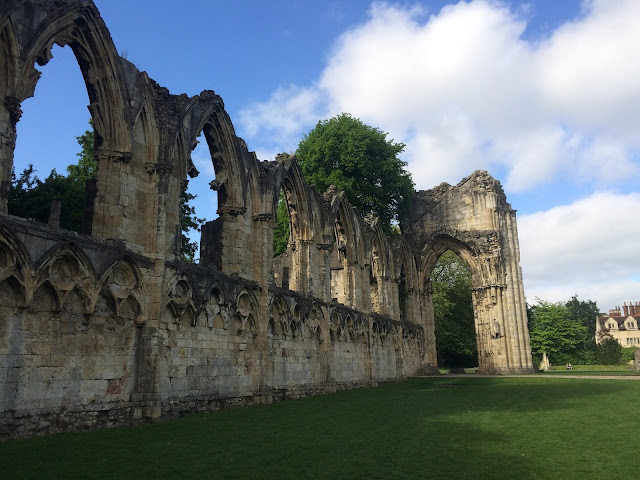 The ruins of St. Mary's Abbey in Museum Gardens