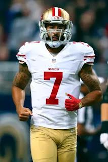NFL player Colin Kaepernick