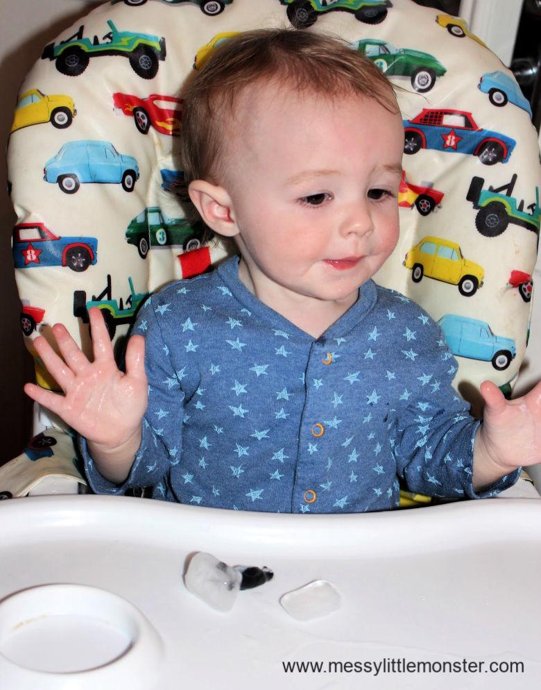 penguin sensory play for babies