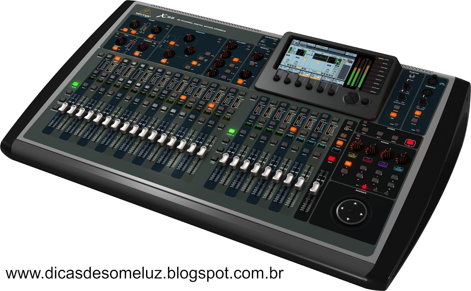 Dicas de som e luz manual mesa de som behringer x32 for Mesas behringer