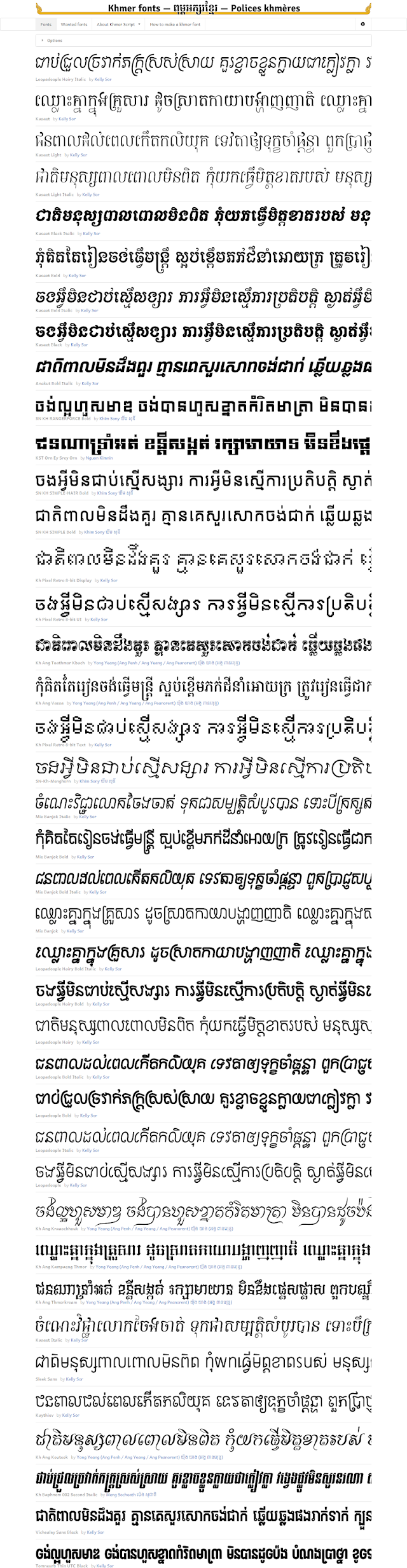 Where to download free and paid Khmer Unicode fonts?