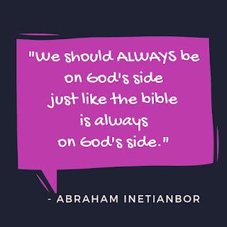 be on God's side